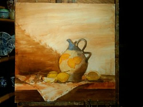 still life oil painting demonstration