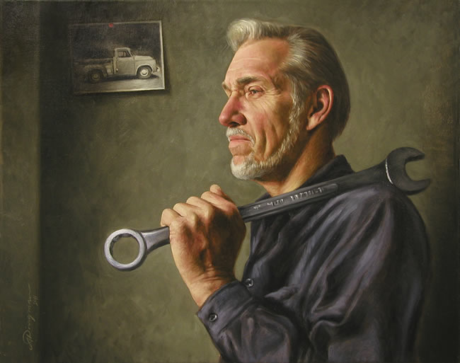 oil realists paintings by Alan Dingman