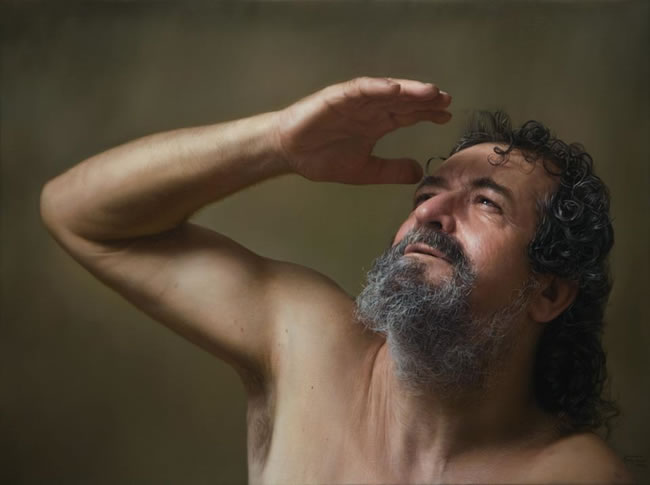 hyper realism painting by Javier Arizabalo